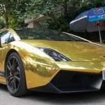 Lamborghini Gallardo dáng đề can vàng ở Hà Nội