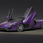 Siêu xe McLaren 570S màu tím tuyệt đẹp