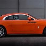 Ngắm xe siêu sang Rolls-Royce Wraith màu da cam độc