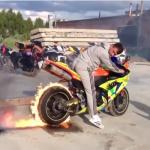 Những pha đốt lốp siêu xe máy đỉnh cao