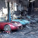 10 siêu xe hiếm và đắt giá bị bà hỏa đốt cháy