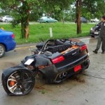 Siêu xe Lamborghini bản đặc biệt tai nạn tại Thái Lan