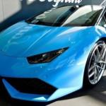 Ngắm siêu xe Lamborghini Huracan mui trần màu xanh đẹp