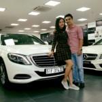 Ngắm xe sang Mercedes S400 của Vân Trang
