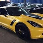 Vẻ đẹp siêu xe Chevrolet Corvette Z06 màu vàng tại Việt Nam