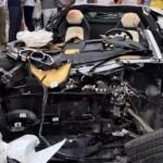 Đại gia trẻ lái siêu xe Lamborghini Aventador bị tai nạn