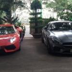 Siêu xe Lamborghini và Mercedes AMG GTS khoe dáng