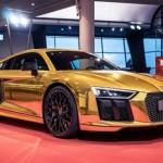 Siêu xe Audi R8 V10 2016 bọc vàng sành điệu