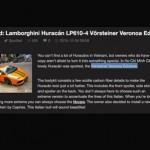 Báo Autogespot nói về siêu xe Lamborghini ở Việt Nam