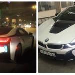 Ngắm 2 siêu xe BMW i8 biển đẹp ở Hà Nội