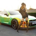 Chân dài Hàn Quốc khoe dáng đẹp bên siêu xe Nissan GT-R