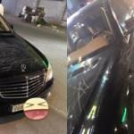 Mercedes S550 về quê bị cào hàng trăm vết