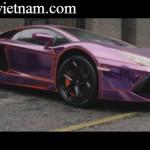 Rapper nổi tiếng hát bên siêu xe Lamborghini Aventador tím
