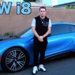 Chàng trai trẻ tuổi lái siêu xe BMW i8