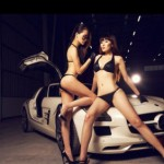 Chân dài khoe dáng xinh bên siêu xe Mercedes và Ferrari