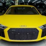 Ngắm siêu xe Audi R8 V10 Plus màu vàng ở Việt Nam