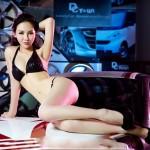 Vẻ đẹp những chân dài Châu Á bên siêu xe (phần 2)