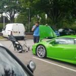 Siêu xe Lamborghini Huracan không hợp đi chơi Golf
