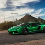 Siêu xe Lamborghini Aventador LP700-4 độ màu xanh độc nhất