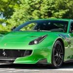 Siêu xe Ferrari F12tdf độ màu xanh tuyệt đẹp