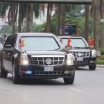 Ngắm dàn xe siêu sang hộ tống tổng thống Mỹ xuống sân bay