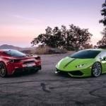Hai siêu xe Lamborghini Huracan và Ferrari 488 GTB cùng khoe mâm đẹp
