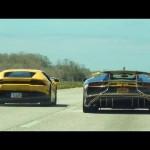 Ấn tượng cuộc đua của hàng chục siêu xe Lamborghini trên đường