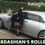 Cận cảnh xe siêu sang Rolls royce Ghost EWB của Kim Kardashian