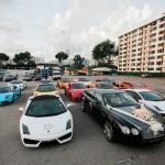 Ngắm loạt siêu xe khủng trong đám cưới đại gia Singapore