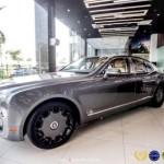 Xe siêu sang Bentley Mulsanne màu đồng độ của đại gia Hà Nội