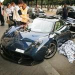 Siêu xe hiếm Pagani Huayra Pearl triệu đô bị tai nạn