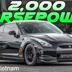 Siêu xe Nissan GT-R bản độ 2000 mã lực tai nạn trên đường đua