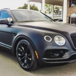 Siêu xe SUV Bentley Bentayga độ đen nhám khác biệt