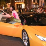 Cường đôla gây chú ý khi lái siêu xe đưa hạ Vi đi sự kiện