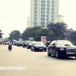 Dàn xe siêu sang rước dâu của đại gia Tuyên Quang