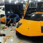 Siêu xe Lamborghini Murcielago LP670-4 SV độ màu da cam