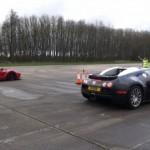 Siêu xe Bugatti Veyron đua nhanh hơn nhiều Ferrari LaFerrari