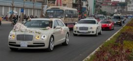 Ngắm dàn siêu xe 70 tỷ trong đám cưới đại gia Hà Nội