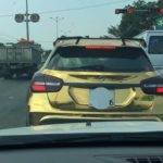 Hàng hiếm Mercedes GLA 45 AMG bọc chrome vàng ở Hà Nội