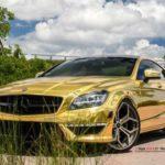 Hàng khủng Mercedes CLS63 AMG mạ vàng bóng