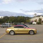 Xe siêu sang Bentley Continental GT độ màu vàng đỏ cực độc