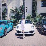 Chân dài xinh đẹp sinh năm 1993 và sở thích chụp ảnh với siêu xe