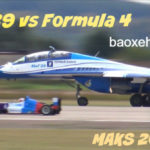 Siêu máy bay MiG-29 đua thua xe đua F1
