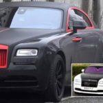 Tiền đạo Lukaku sơn xe Rolls royce màu trắng thành màu đen không bóng
