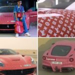 Ngắm Ferrari F12berlinetta với vỏ dán Louis Vuitton của thiếu gia 15 tuổi