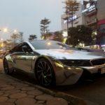 Siêu xe BMW i8 dán đề can Chrome ở Sài Gòn