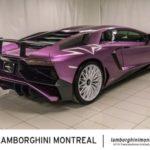 Lamborghini Aventador SV độ vỏ tím giá bán lại rất cao