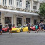 Dàn siêu xe tụ tập ở khách sạn 5 sao Sài Gòn