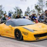 Siêu xe Ferrari 458 italia độ Lyberty Walk sát mặt đất thế nào ?