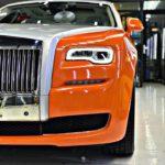 Rolls royce Ghost Series II giá 35 tỷ thay màu sơn cam ở Sài Gòn